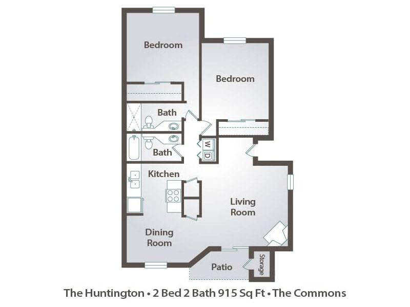 The Huntington - 2 Bedroom / 2 Bathroom Image