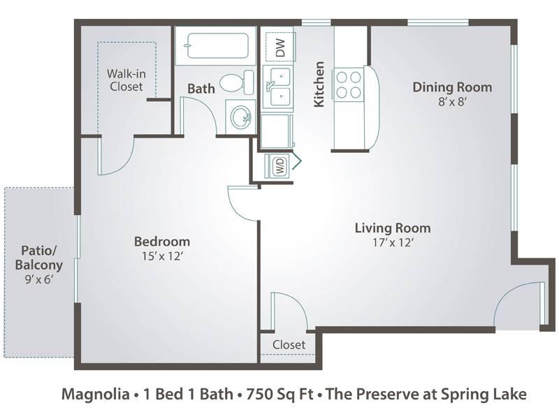 Magnolia - 1 Bedroom / 1 Bathroom Image
