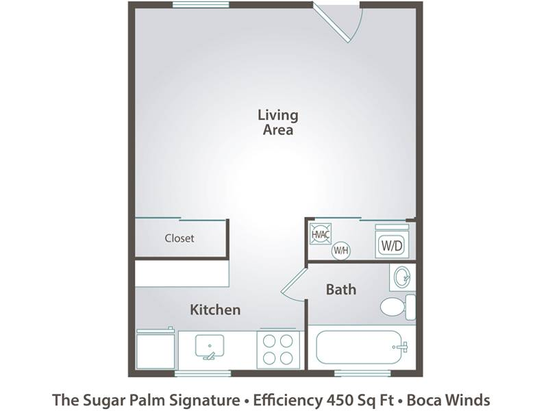 The Sugar Palm - 0 Bedroom / 1 Bathroom Image