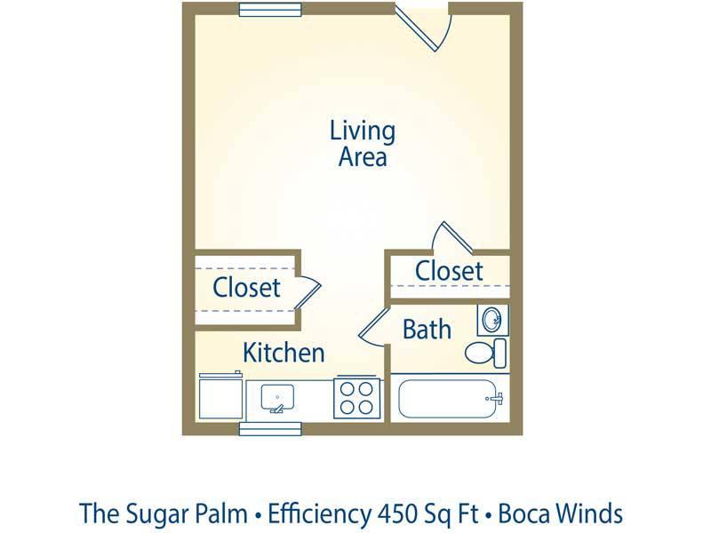 The Sugar Palm - 0 Bedroom / 1 Bathroom Image