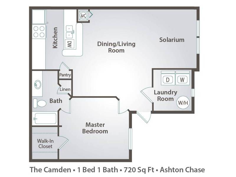 Apartment floor plans pricing ashton chase in clermont fl for Laundry bathroom floor plans