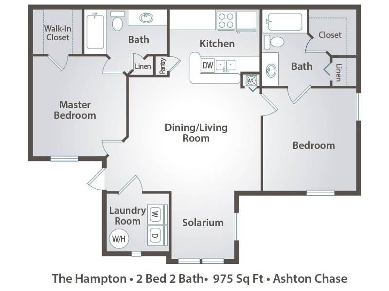 The Hampton - 2 Bedroom / 2 Bathroom Image