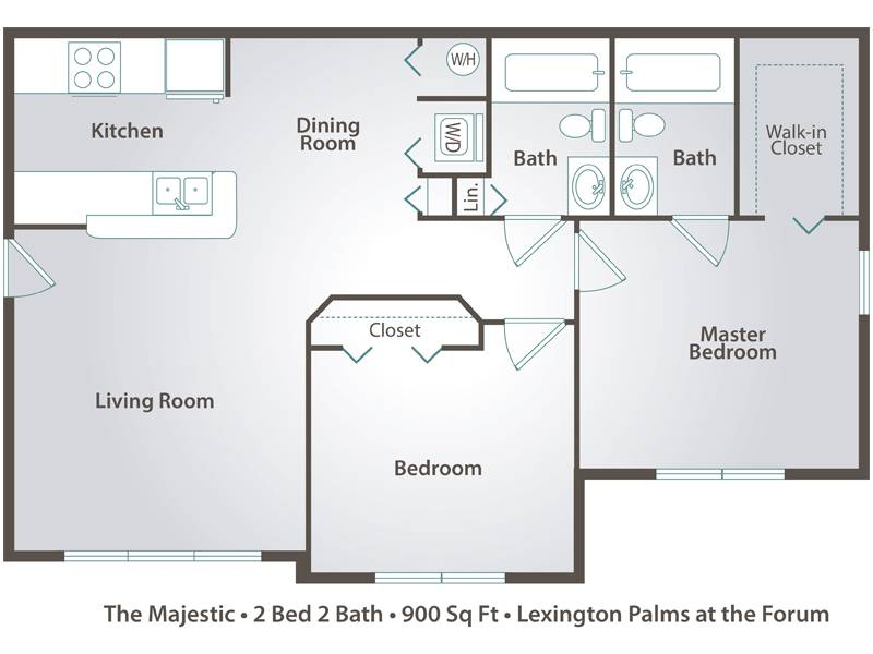 The Majestic - 2 Bedroom / 2 Bathroom Image