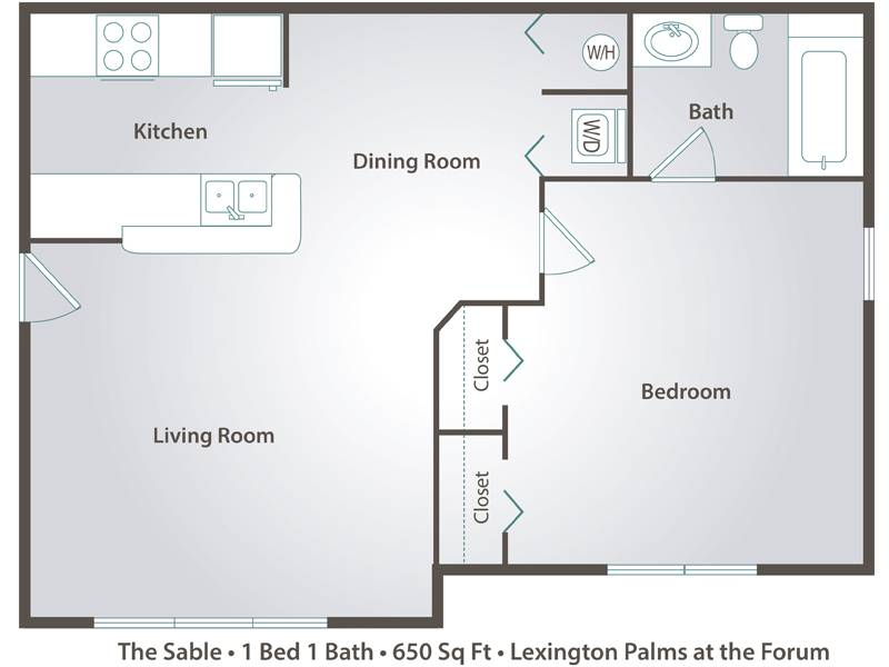 The Sable - 1 Bedroom / 1 Bathroom Image