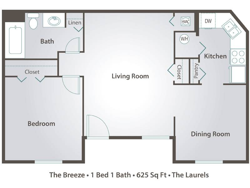 The Breeze - 1 Bedroom / 1 Bathroom Image