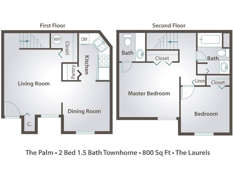 The Palms - 2 Bedroom / 1.5 Bathroom Image