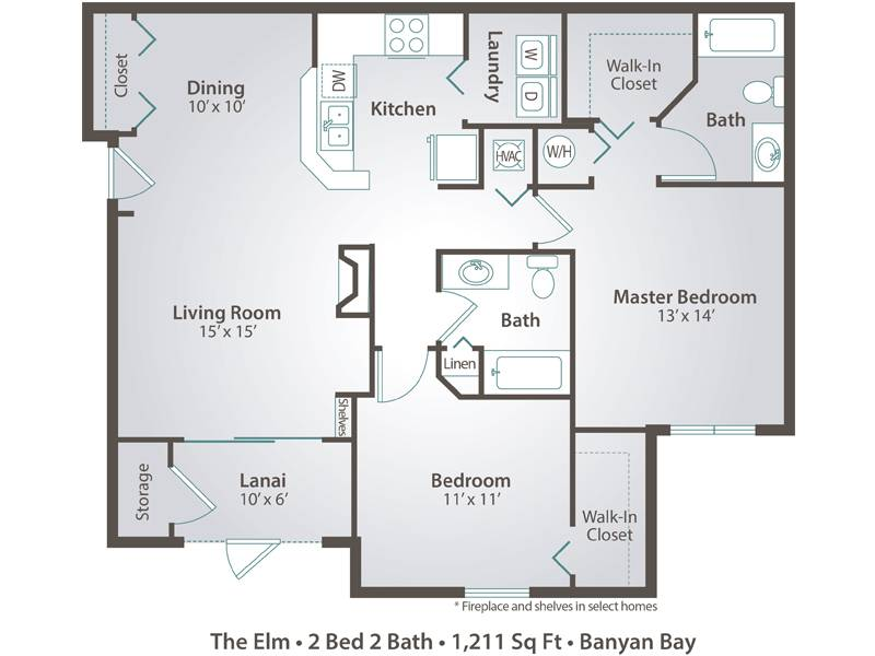 The Elm - 2 Bedroom / 2 Bathroom Image