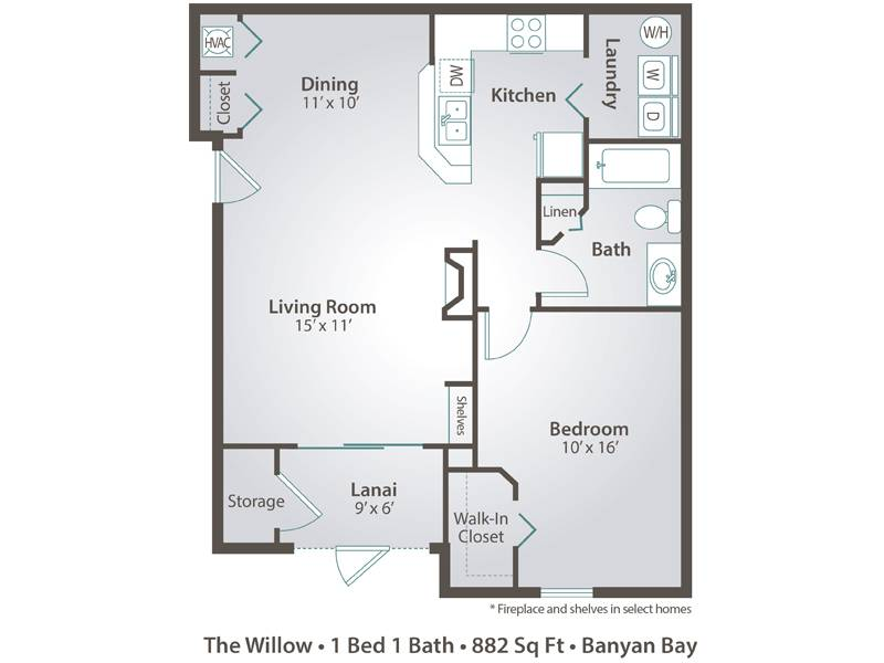 The Willow - 1 Bedroom / 1 Bathroom Image