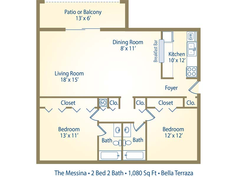 The Messina - 2 Bedroom / 2 Bathroom Image