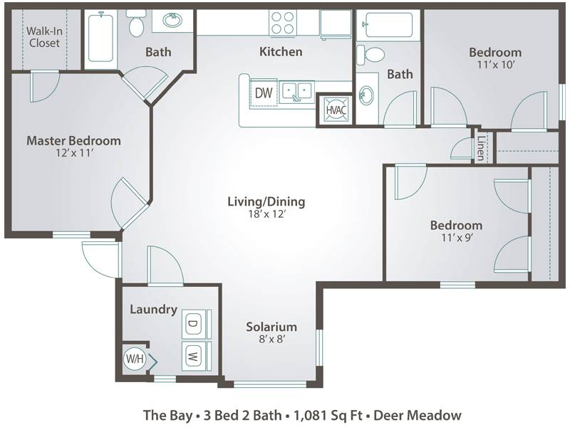 The Bay - 3 Bedroom / 2 Bathroom Image