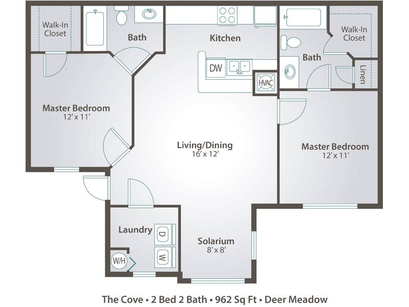 The Cove - 2 Bedroom / 2 Bathroom Image