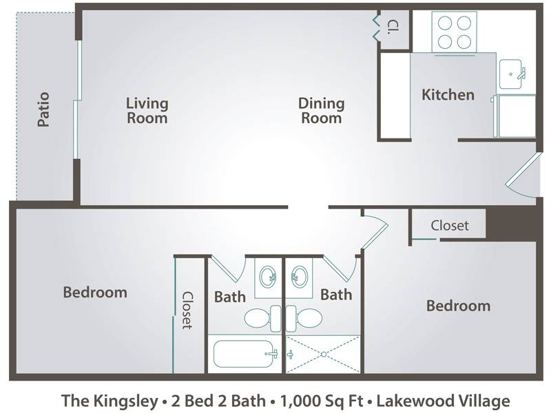 The Kingsley - 2 Bedroom / 2 Bathroom Image