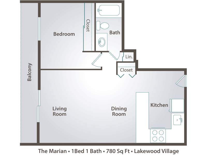 The Marian - 1 Bedroom / 1 Bathroom Image