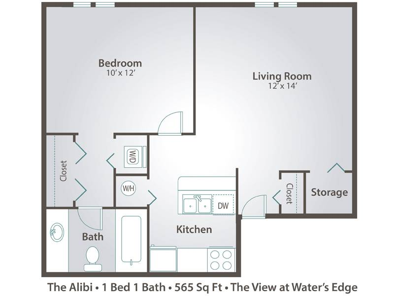 The Alibi - 1 Bedroom / 1 Bathroom Image