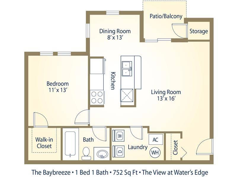 The Baybreeze - 1 Bedroom / 1 Bathroom Image