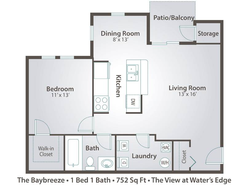 The Baybreeze - 1 Bedroom / 1 Bathroom Image