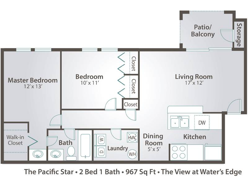 Apartment floor plans pricing the view at water 39 s edge for Laundry bathroom floor plans