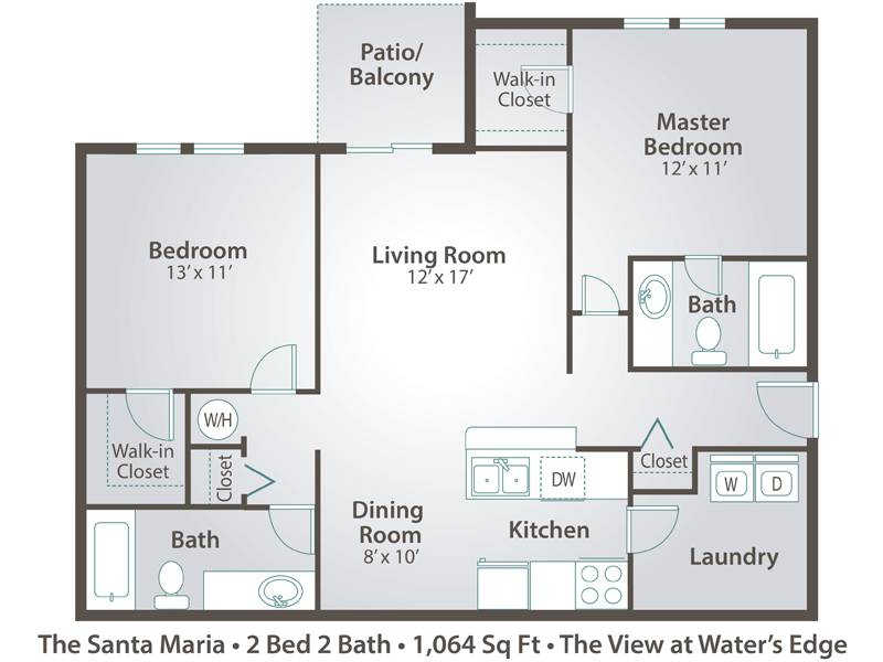 The Santa Maria - 2 Bedroom / 2 Bathroom Image