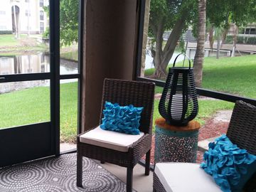 Private Patio - The View at Waters Edge - Lantana, FL