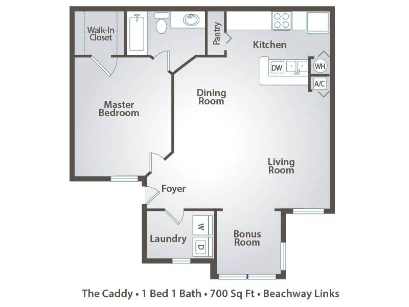 The Caddy - 1 Bedroom / 1 Bathroom Image