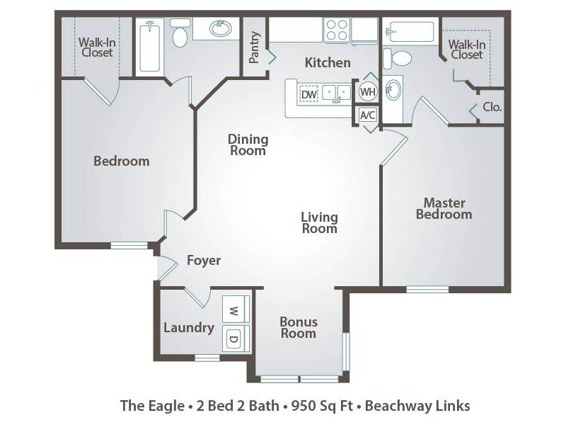 The Eagle - 2 Bedroom / 2 Bathroom Image