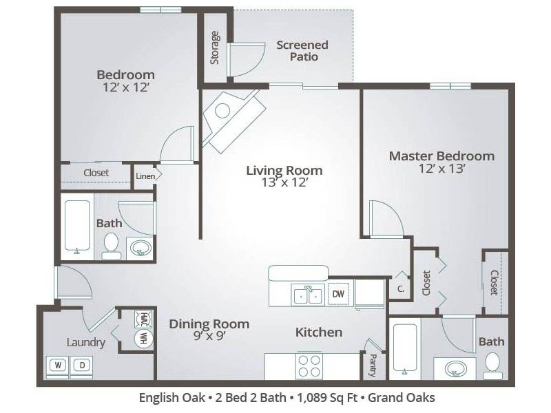 English Oak - 2 Bedroom / 2 Bathroom Image
