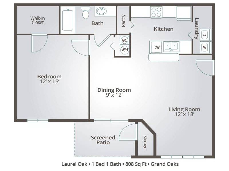 Laurel Oak - 1 Bedroom / 1 Bathroom Image