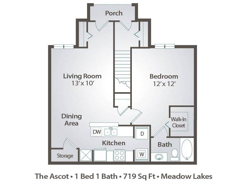 The Ascot - 1 Bedroom / 1 Bathroom Image
