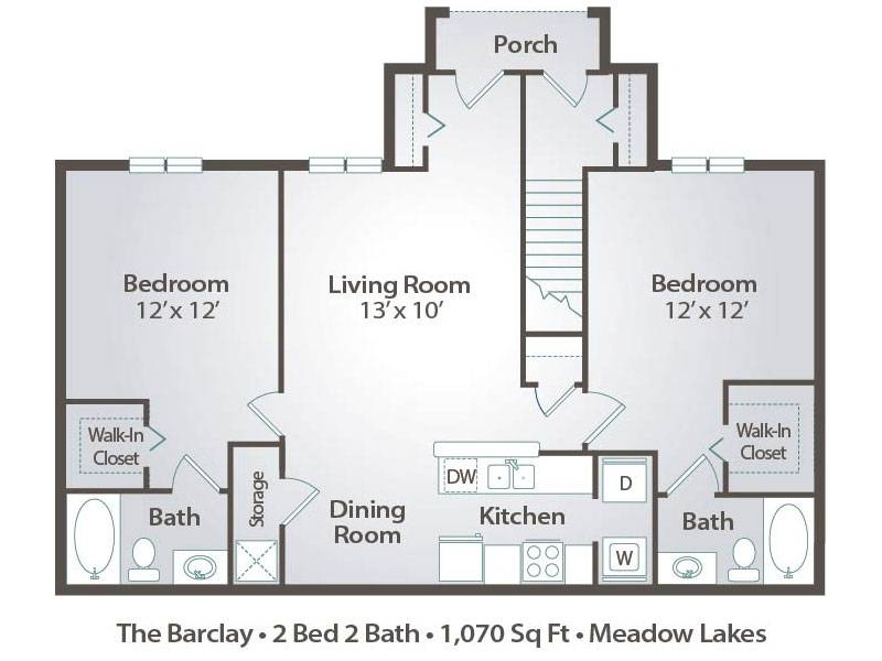 The Barclay - 2 Bedroom / 2 Bathroom Image