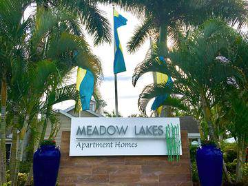 Front Entrance Sign - Meadow Lakes - Naples, FL