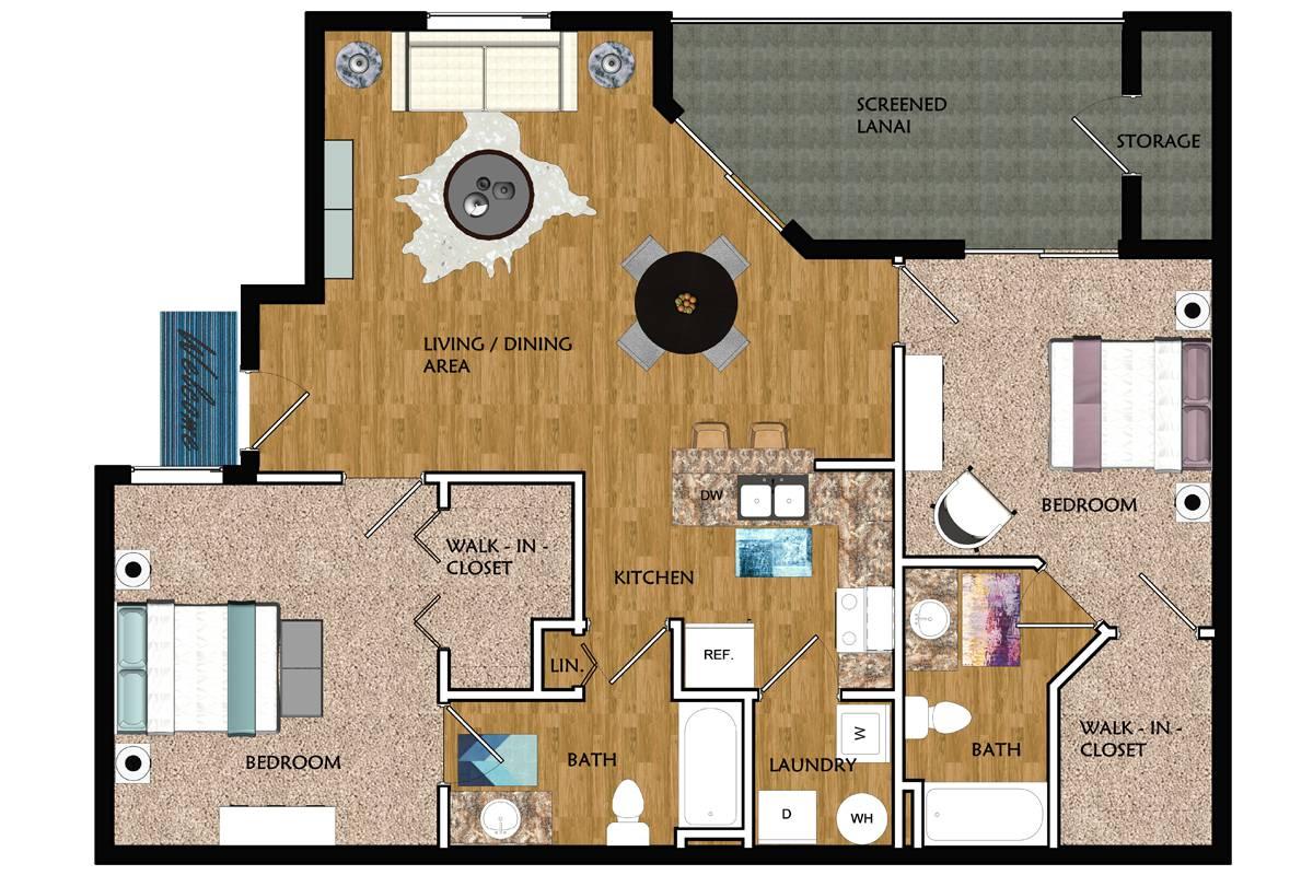 Riviera - 2 Bedroom / 2 Bathroom Image
