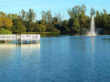 Lake with Fountain - River Reach - Naples, FL