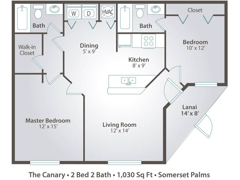 The Canary - 2 Bedroom / 2 Bathroom Image