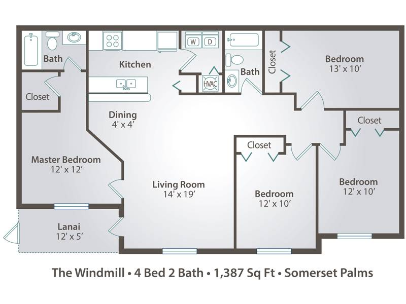 The Windmill - 4 Bedroom / 2 Bathroom Image