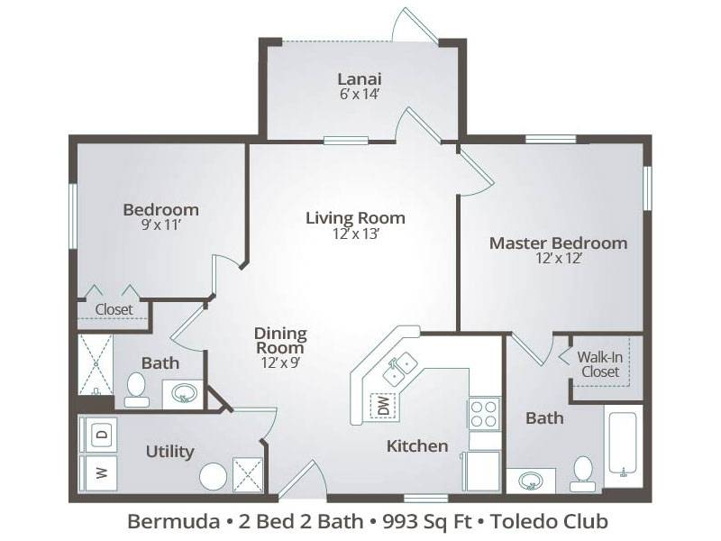 The Bermuda - 2 Bedroom / 2 Bathroom Image