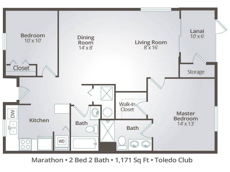 The Marathon - 2 Bedroom / 2 Bathroom Image