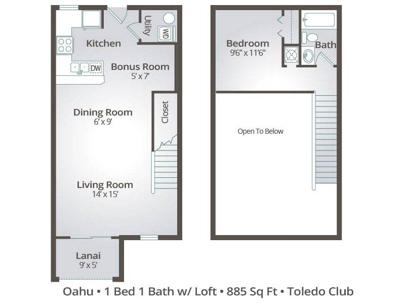 The Oahu - 1 Bedroom / 1 Bathroom Image
