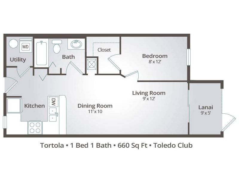 The Tortola - 1 Bedroom / 1 Bathroom Image