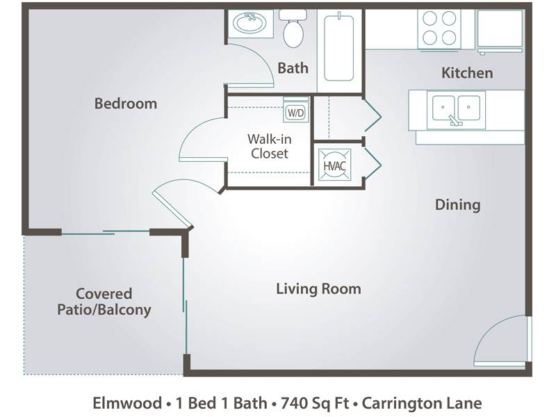 Elmwood - 1 Bedroom / 1 Bathroom Image