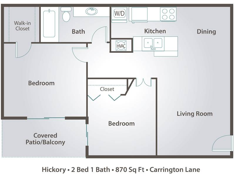 Hickory - 2 Bedroom / 1 Bathroom Image