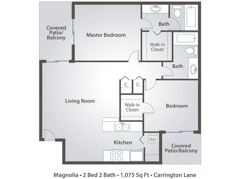 Magnolia - 2 Bedroom / 2 Bathroom Image
