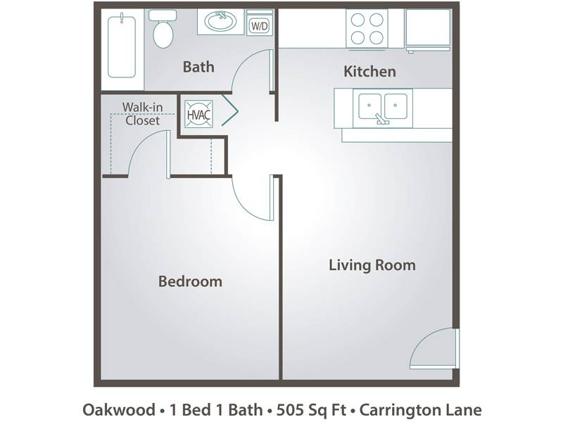 Oakwood - 1 Bedroom / 1 Bathroom Image