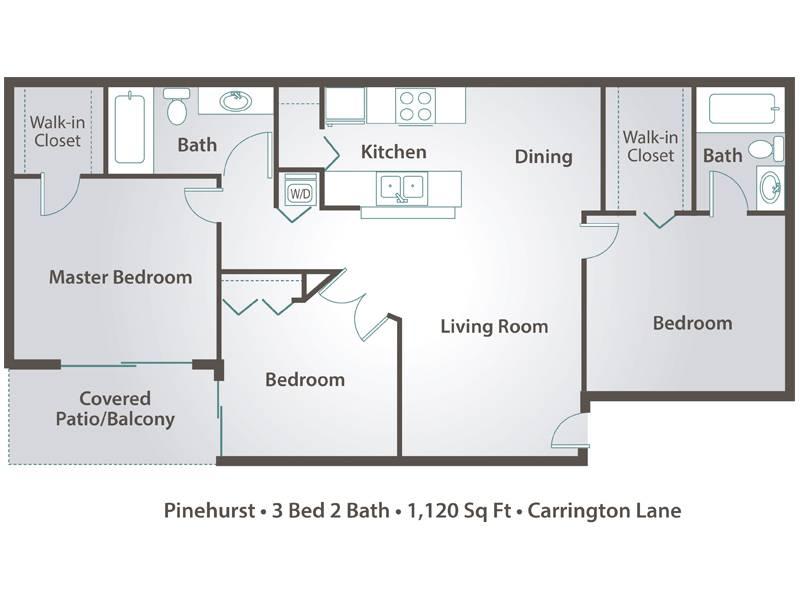 Pinehurst - 3 Bedroom / 2 Bathroom Image