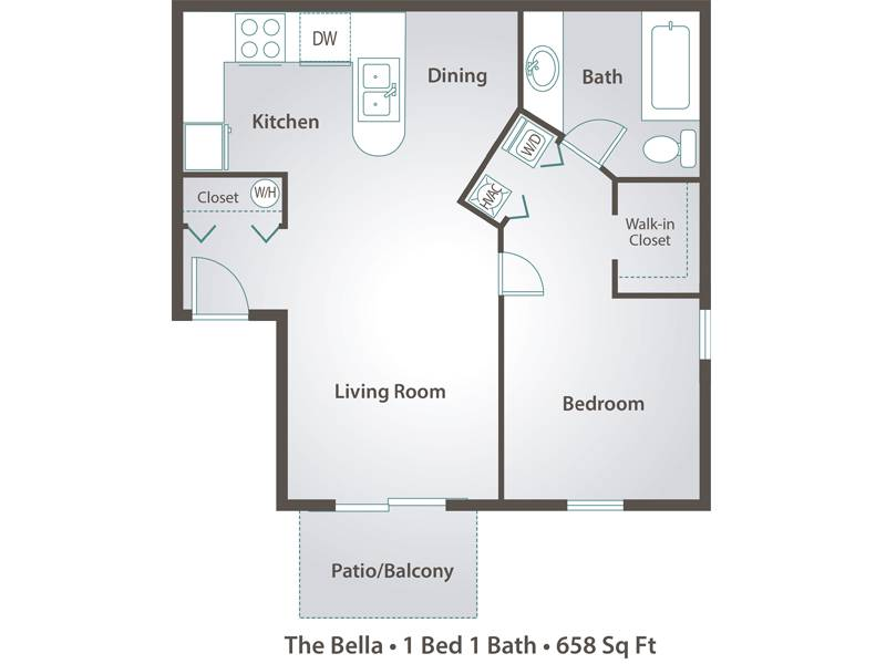 The Bella - 1 Bedroom / 1 Bathroom Image