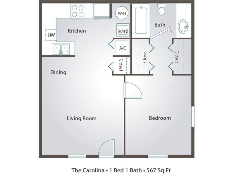 The Carolina - 1 Bedroom / 1 Bathroom Image