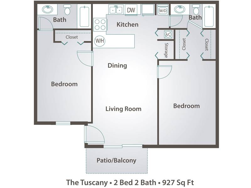 The Tuscany   2 Bedroom / 2 Bathroom