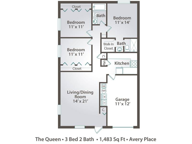 The Queen - 3 Bedroom / 2 Bathroom Image