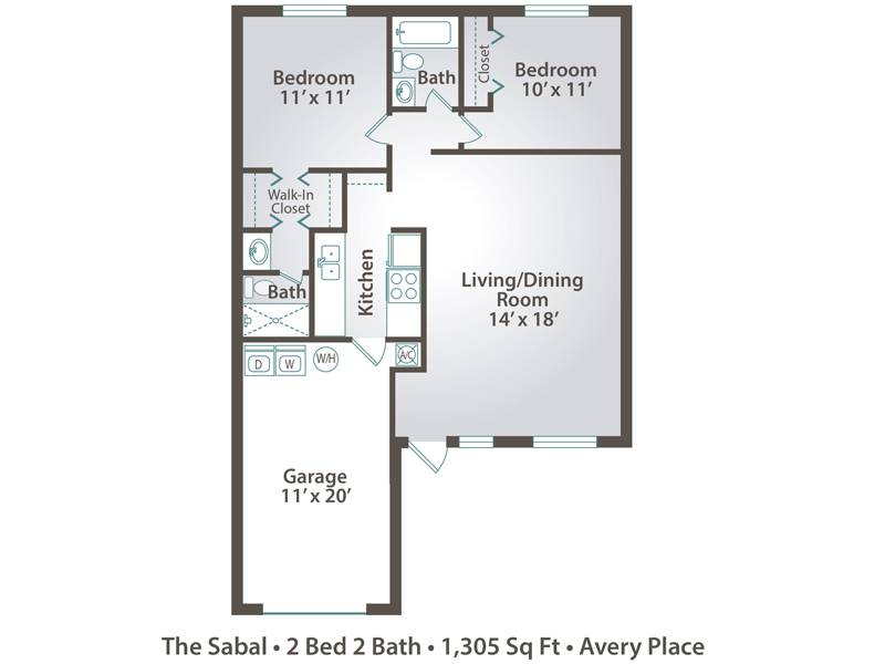 The Sabal - 2 Bedroom / 2 Bathroom Image
