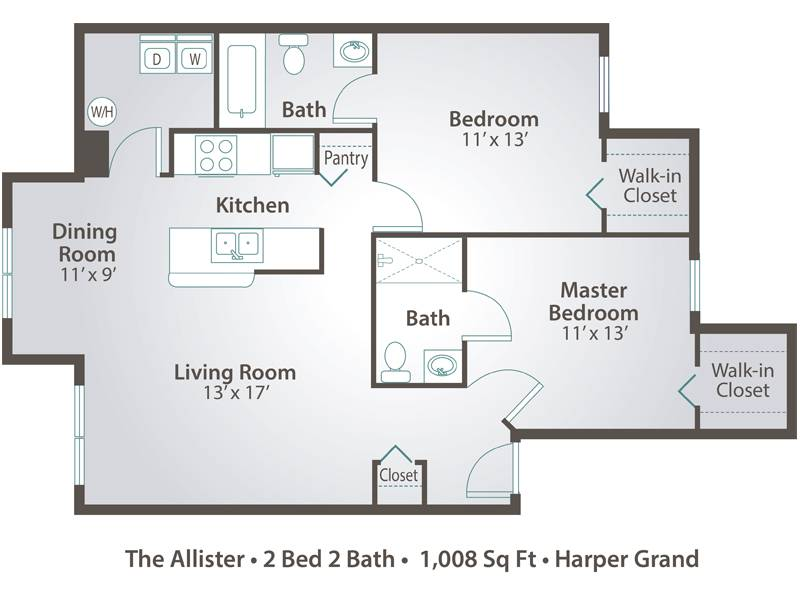 The Allister - 2 Bedroom / 2 Bathroom Image