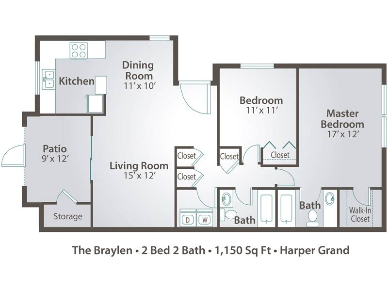 The Braylen - 2 Bedroom / 2 Bathroom Image